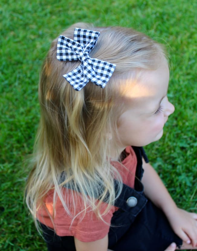 Nylon Piggies Construction Bow Clip *****SEE ITEM DETAILS Hairband