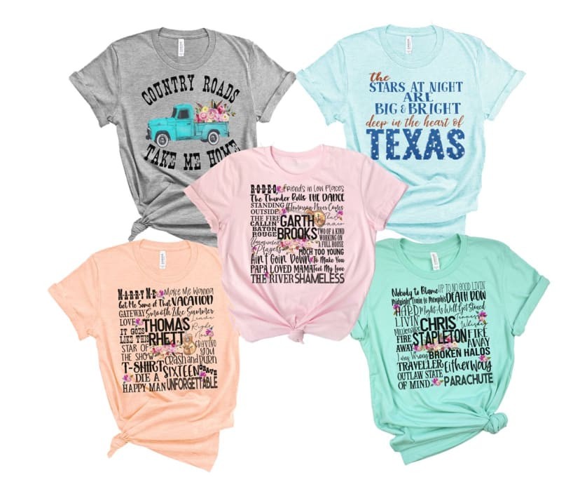 Country Concert Tee Southern Girl Tshirt Hey Yall Shirt For Women Sizes XS-2XL
