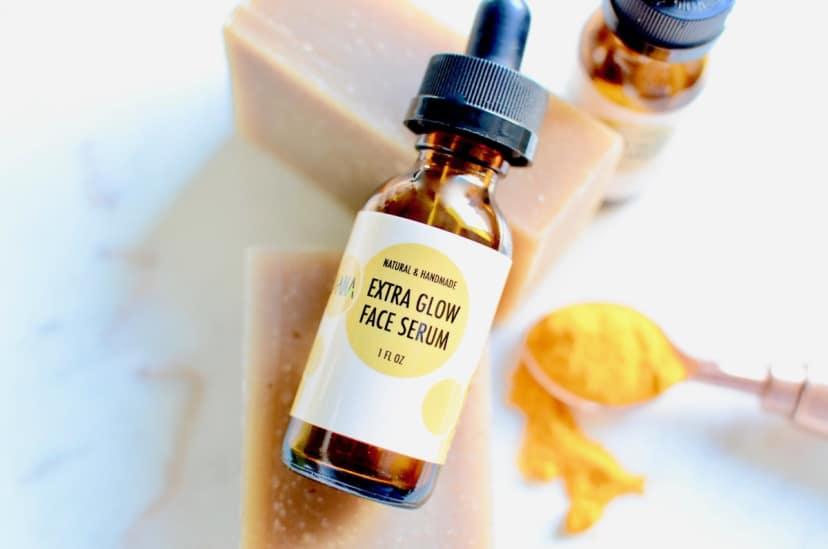 Turmeric Soap + Glow Face Serum Set