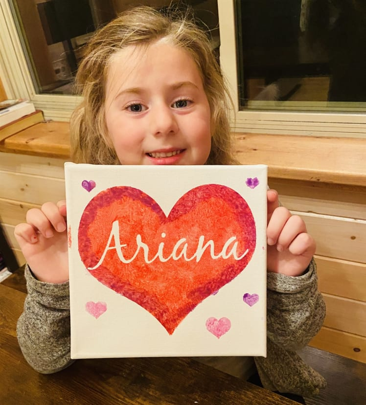 Personalized Kids Diy Valentine S Day Canvas Paint Kit Jane