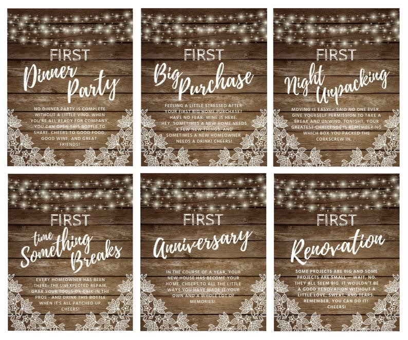 6 Housewarming Gift Wine Labels For New Homeowners Jane,Late Summer Blooming Perennials Ontario