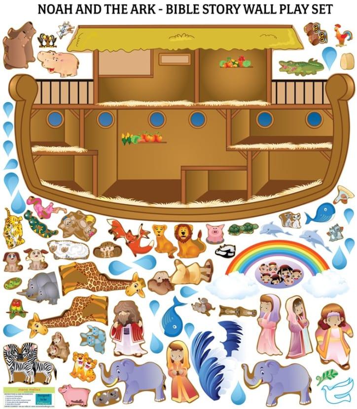 Kids Bible Story Wall Decals Reusable Jane