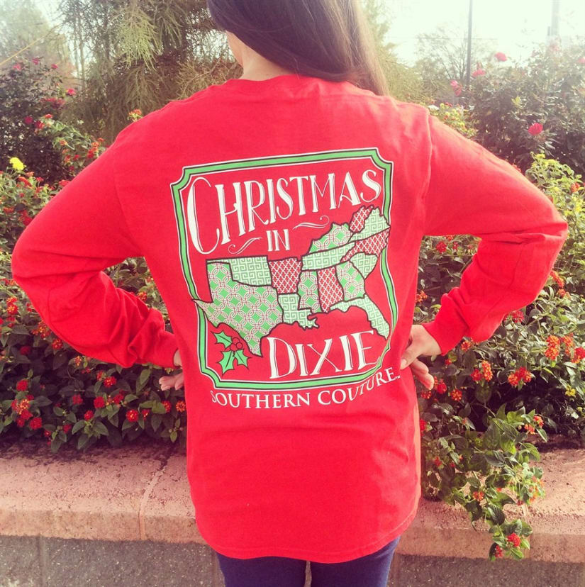 Christmas In Dixie Shirt.Christmas In Dixie Long Sleeve Shirt