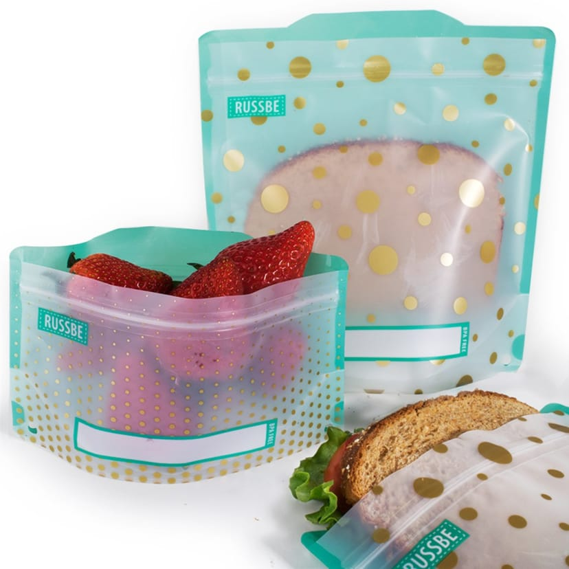 Reusable Snack Sandwich Bags Set Of 4