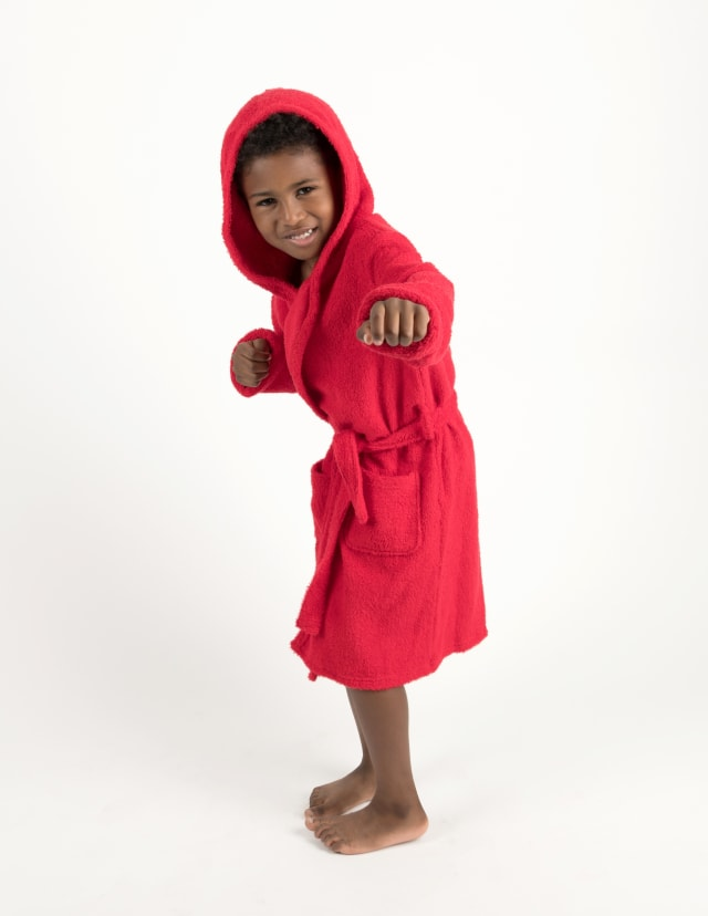 Leveret Kids Bathrobe Boys Girls Terry Cotton Hooded Robe Size 12 Months-16 Years Variety of Colors