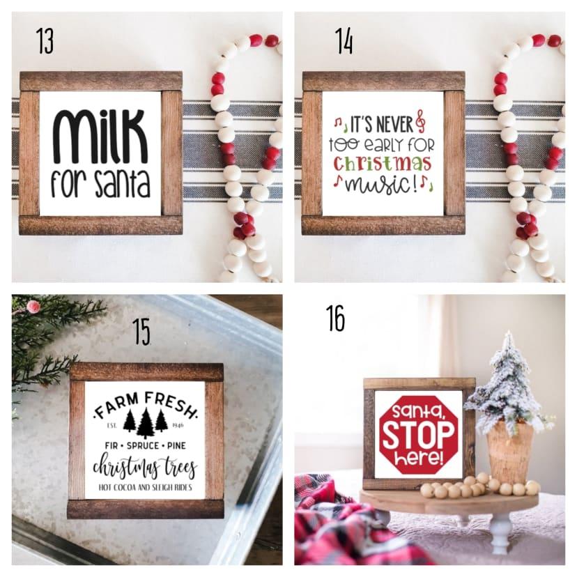 Christmas Wood Signs Holiday Farmhouse Decor Jane