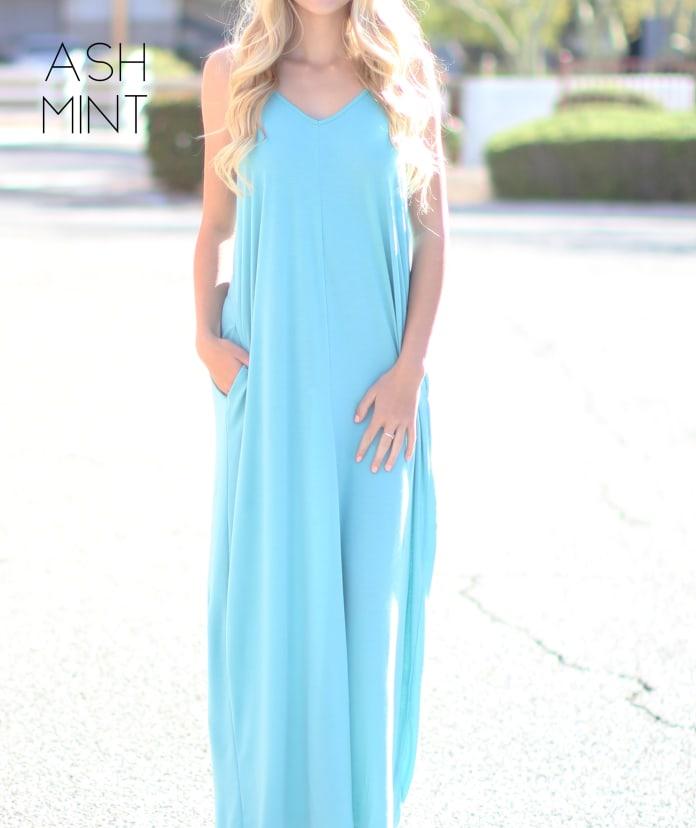Teal Flowy Dress With Pockets XS-3XL