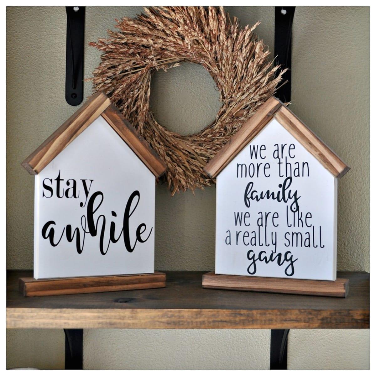 Little House Shelf Sitter Signs