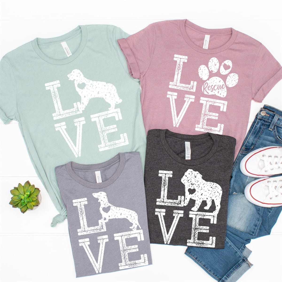 Love Dog Breed & Rescue Tees