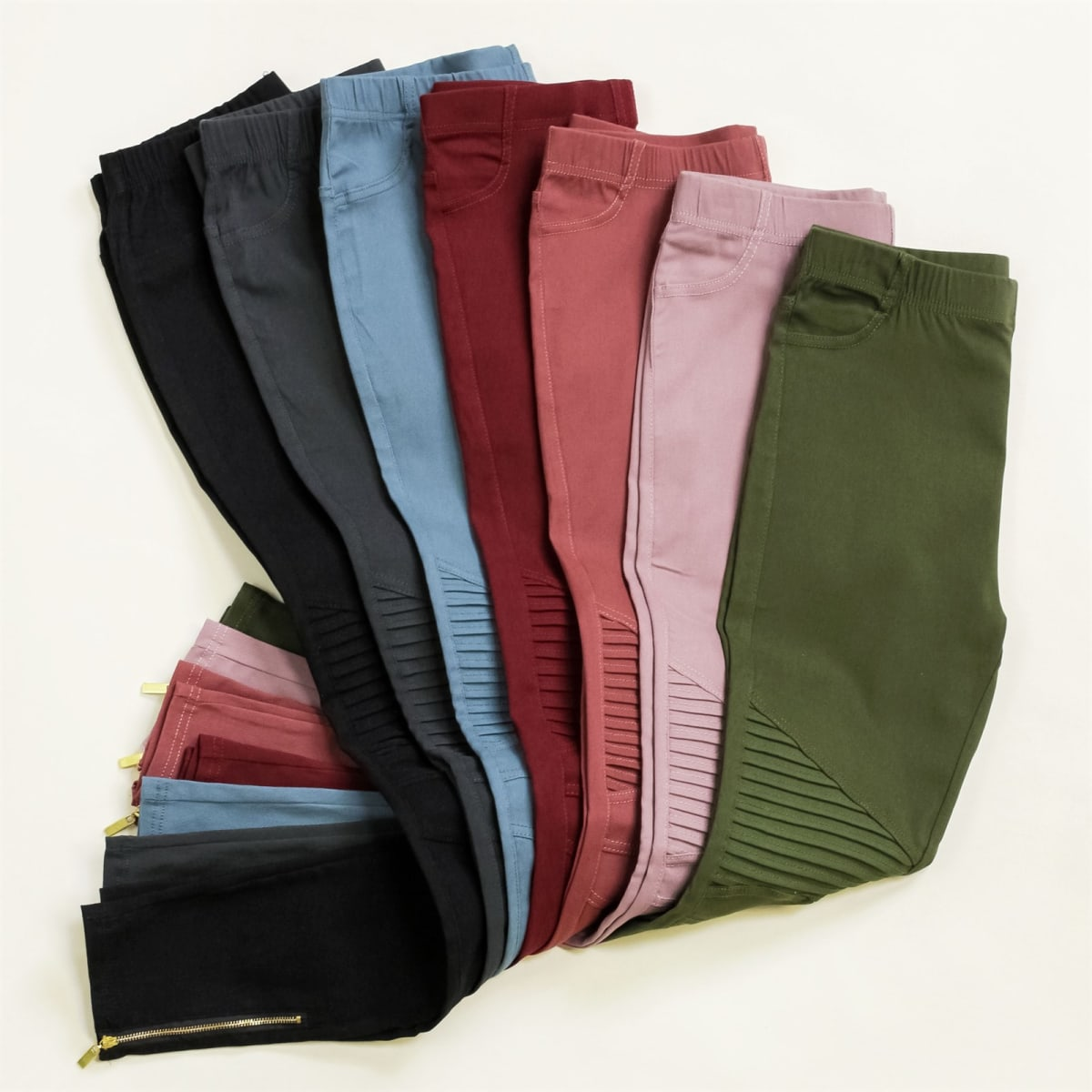 Stretch Moto Jeggings   S-3XL   Original price .95, NOW .99 + FREE SHIPPING!