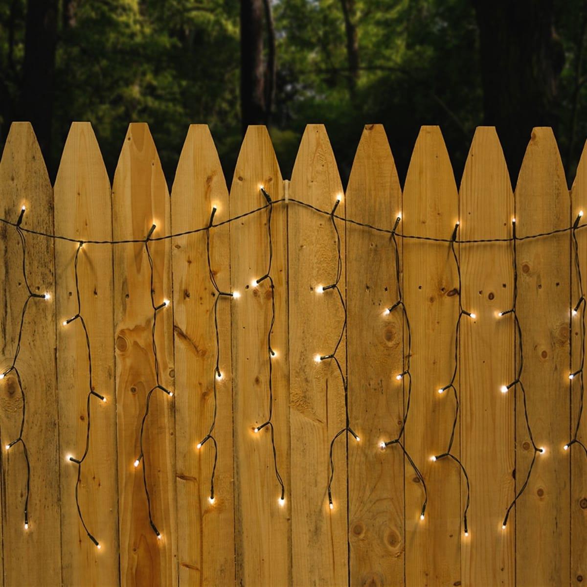 110 LED Outdoor Solar Curtain String Light- .99!