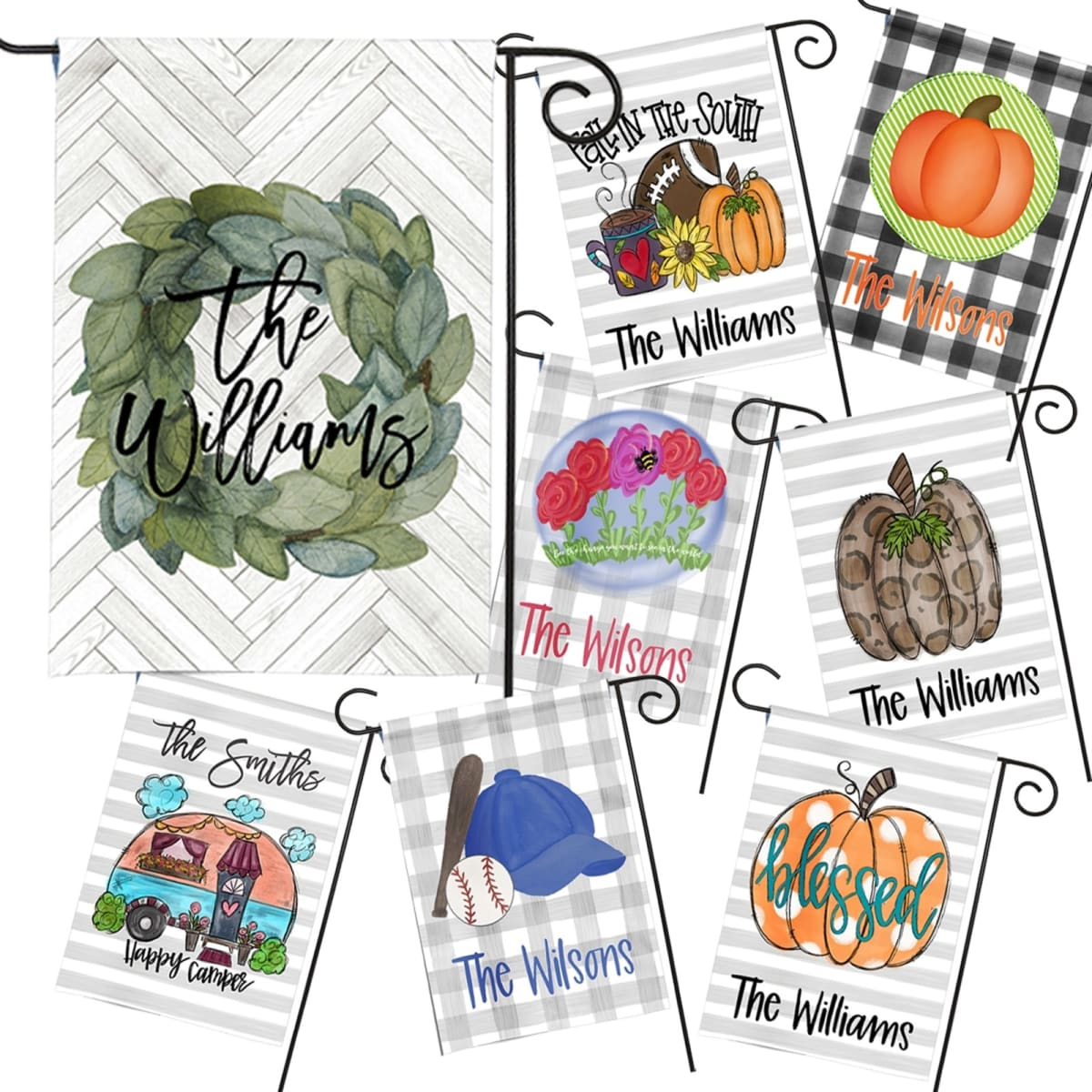 Personalized Seasonal Flags   Many Designs- .99, Retails for .99