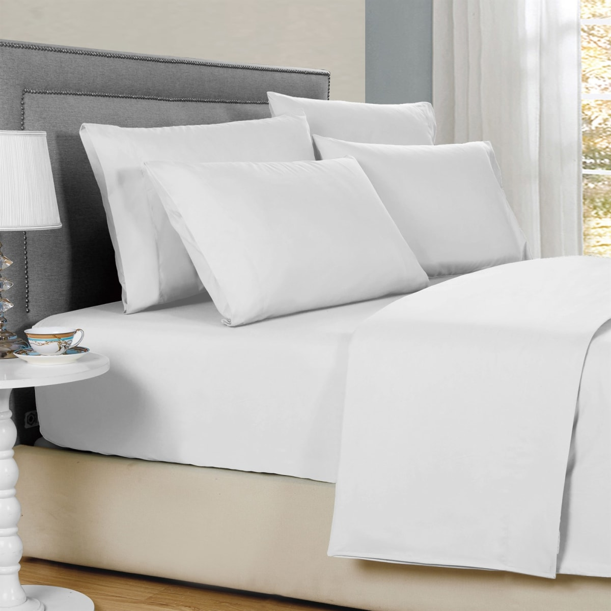Bamboo 6 Piece Solid Sheet Sets   1800 Count