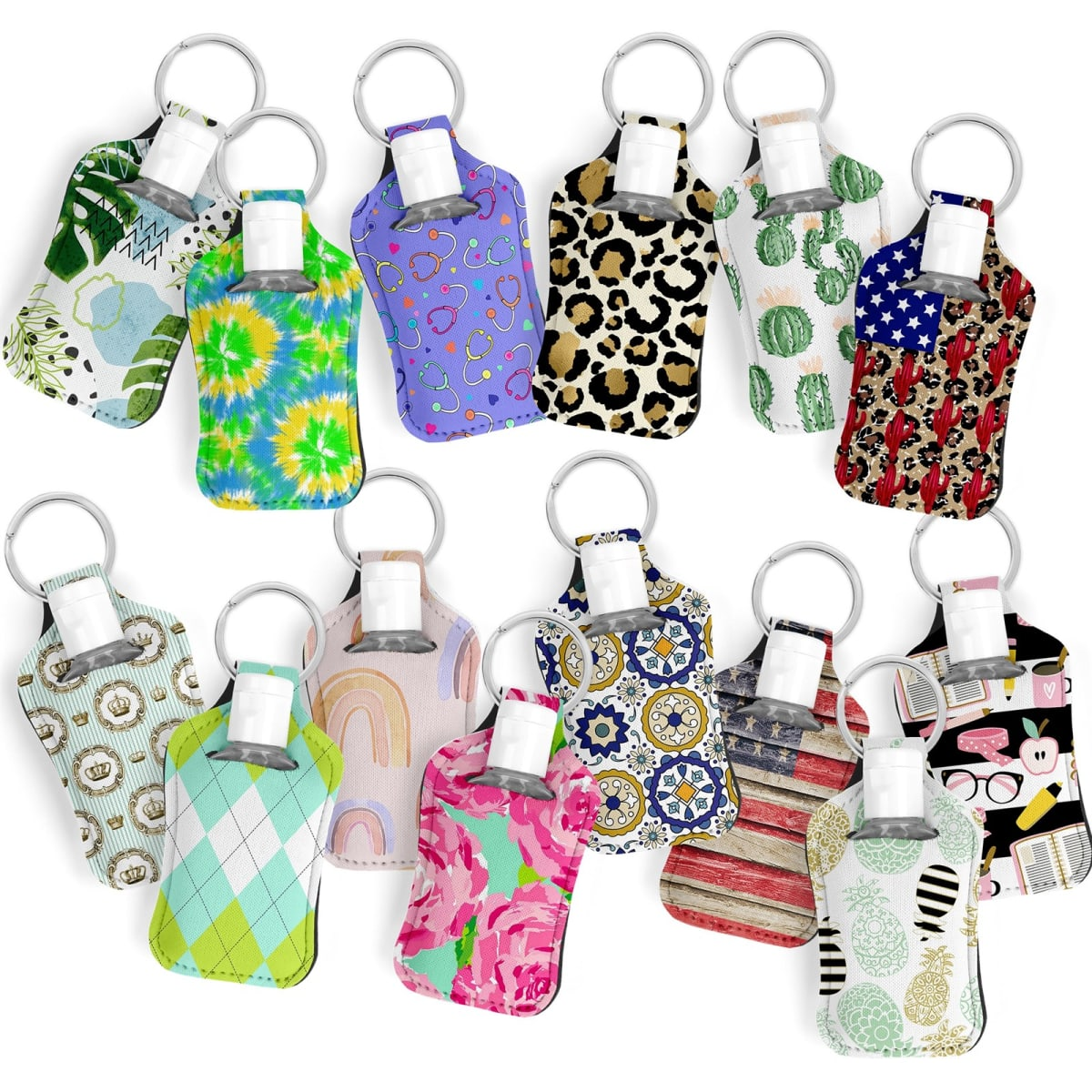 Hand Sanitizer-Key Ring Holder