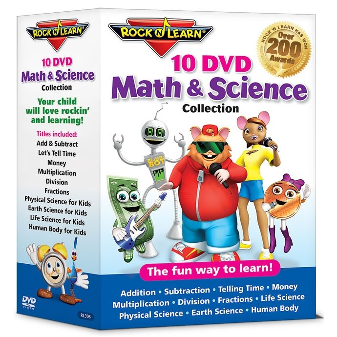 10 DVD Math & Science Collection
