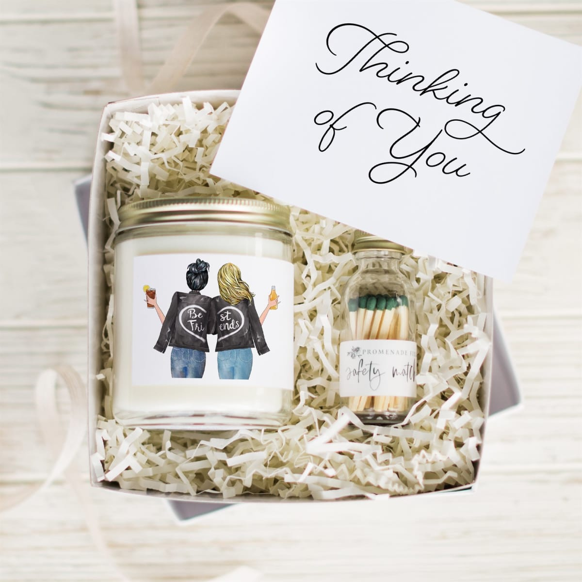 Personalized Best Friends Candle