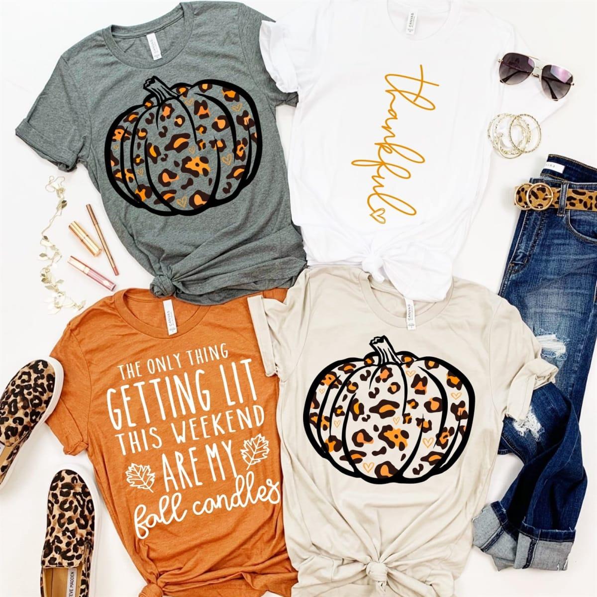 Leopard Pumpkin Tops
