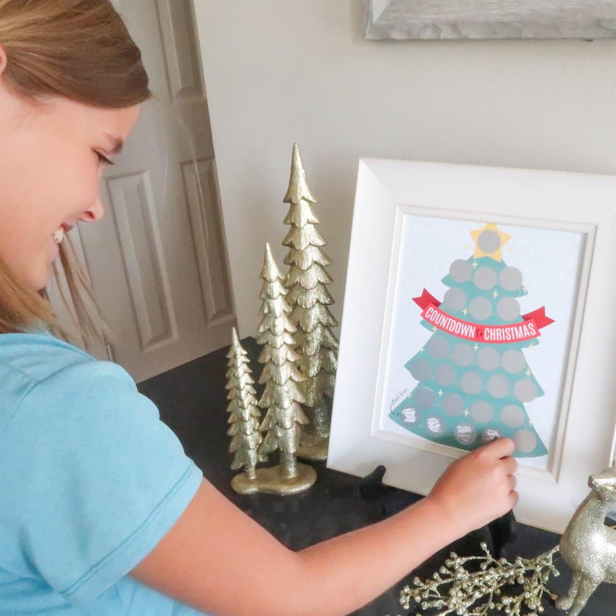 Scratch Off Christmas Advent Calendar