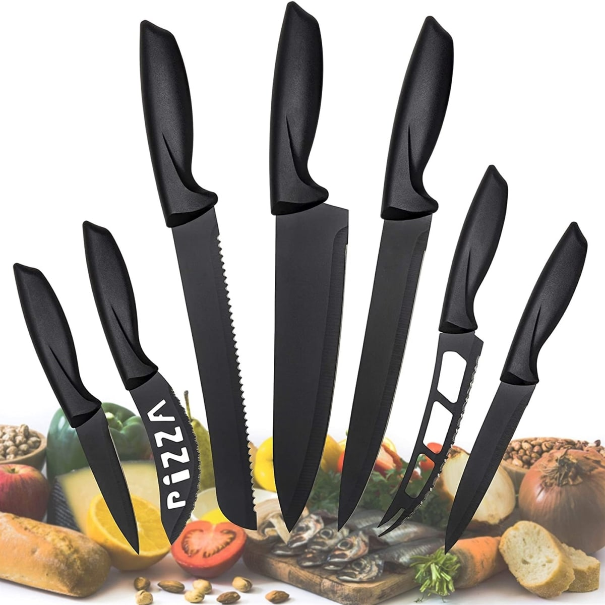$18.99 (reg $80) Set of 7 Kitchen Knives