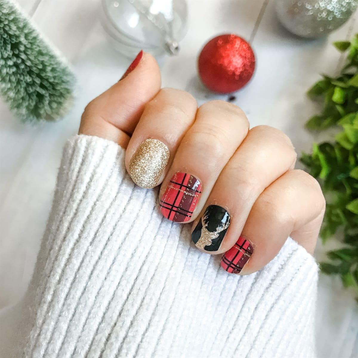 Christmas Nail Wraps | 28 Styles