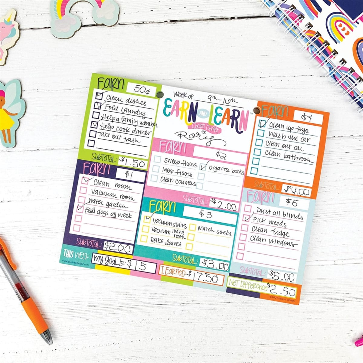 $9.97 (reg $17) Earn & Learn™ Kids Chore Chart