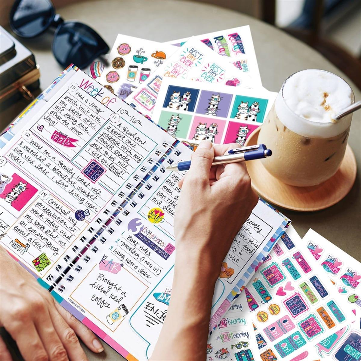 Gratitude Gift Set   Journal + Stickers