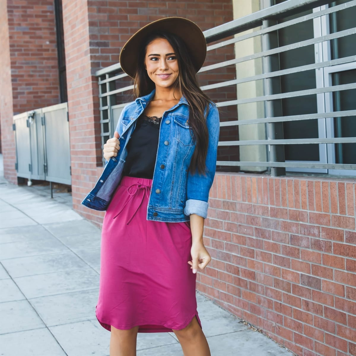 Solid Color Weekend Skirt   S-3X