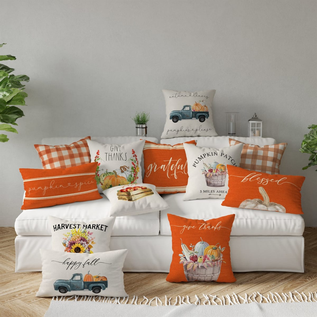 Thanksgiving Countdown Pillow Covers