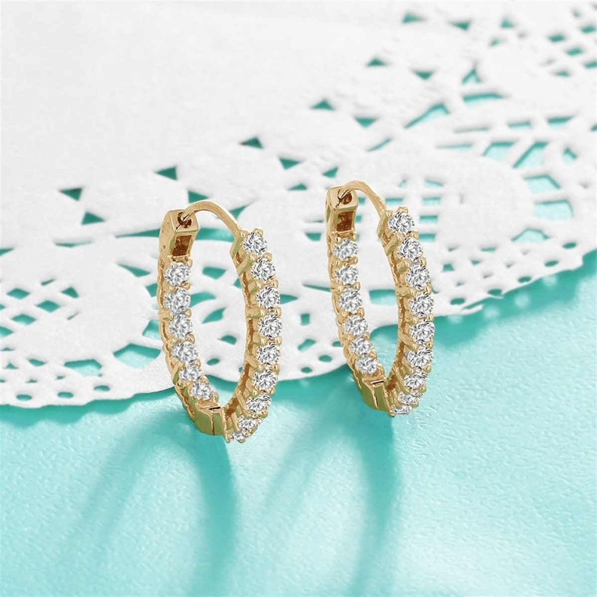 Double Sided Cubic Zirconia Huggie EarringsSale Price $3.99$3.99Retail Price $29.99$29.99(24 revi... | Jane