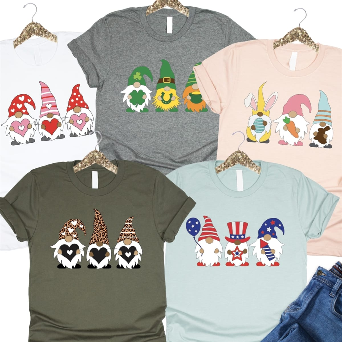 Festive Gnomes Graphic Tee