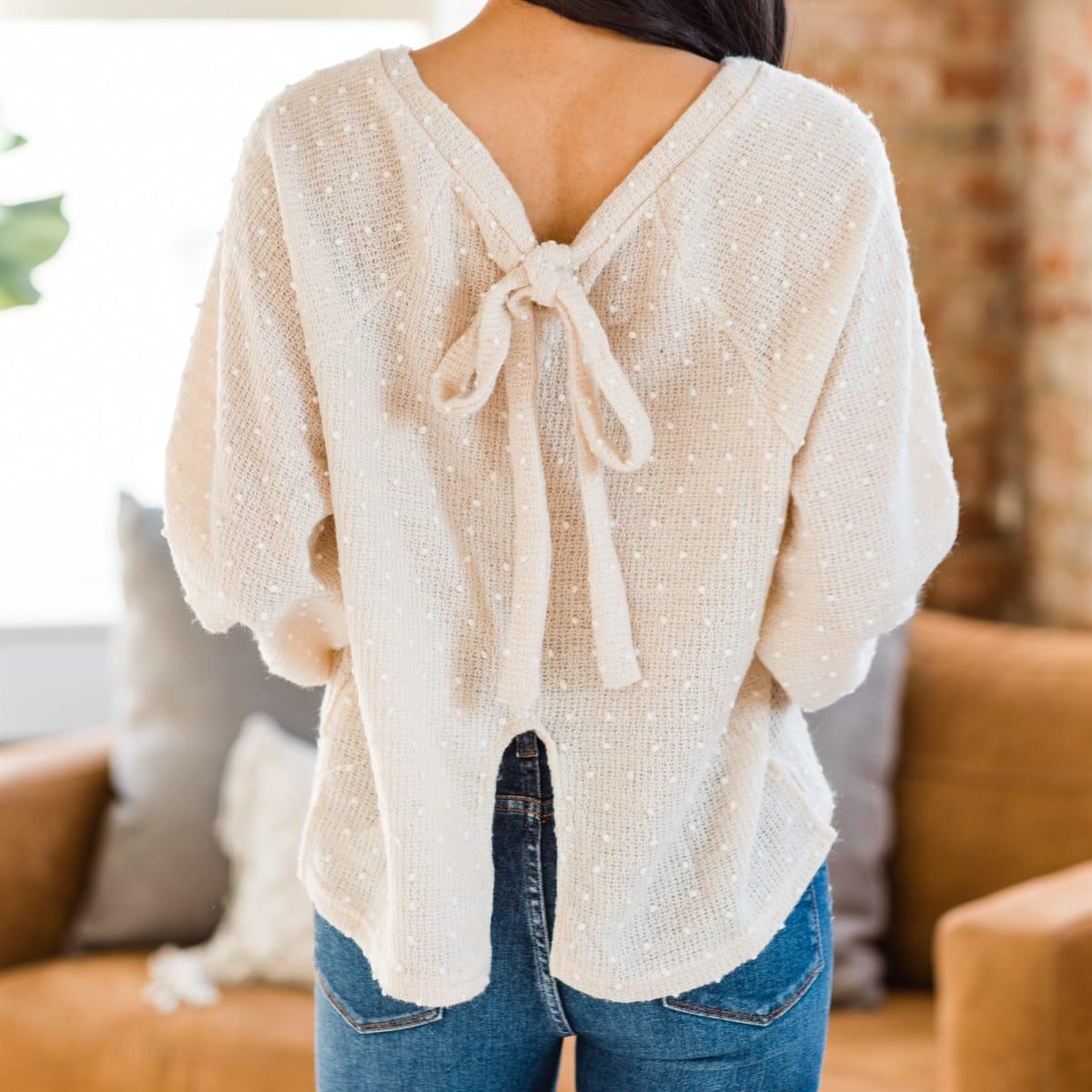 Jaydee Bubble Sleeve Sweater