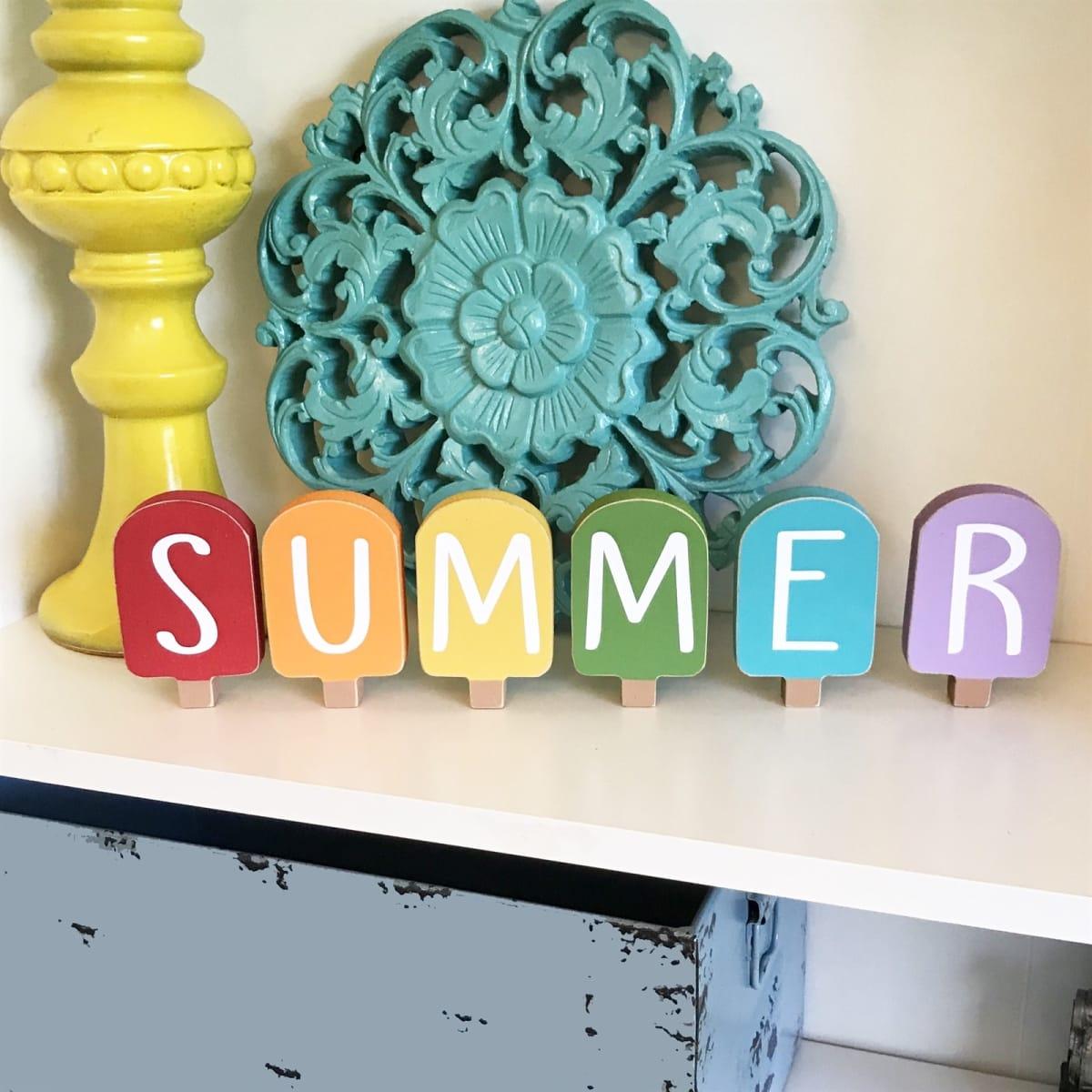 Summer Popsicle Decor
