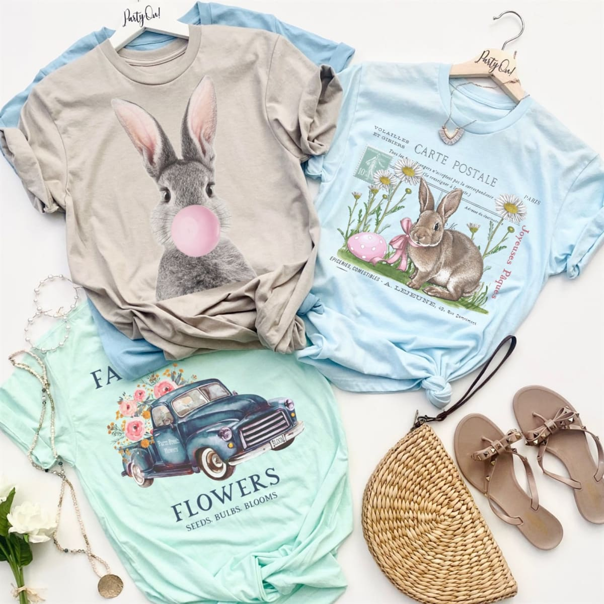 Classic Storybook Easter Throwback Soft Print Tees