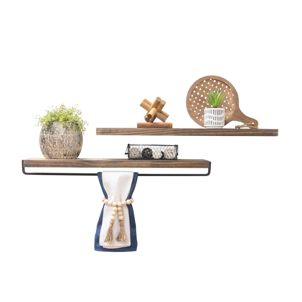 Del Hutson Designs True Floating Shelf and Towel Set