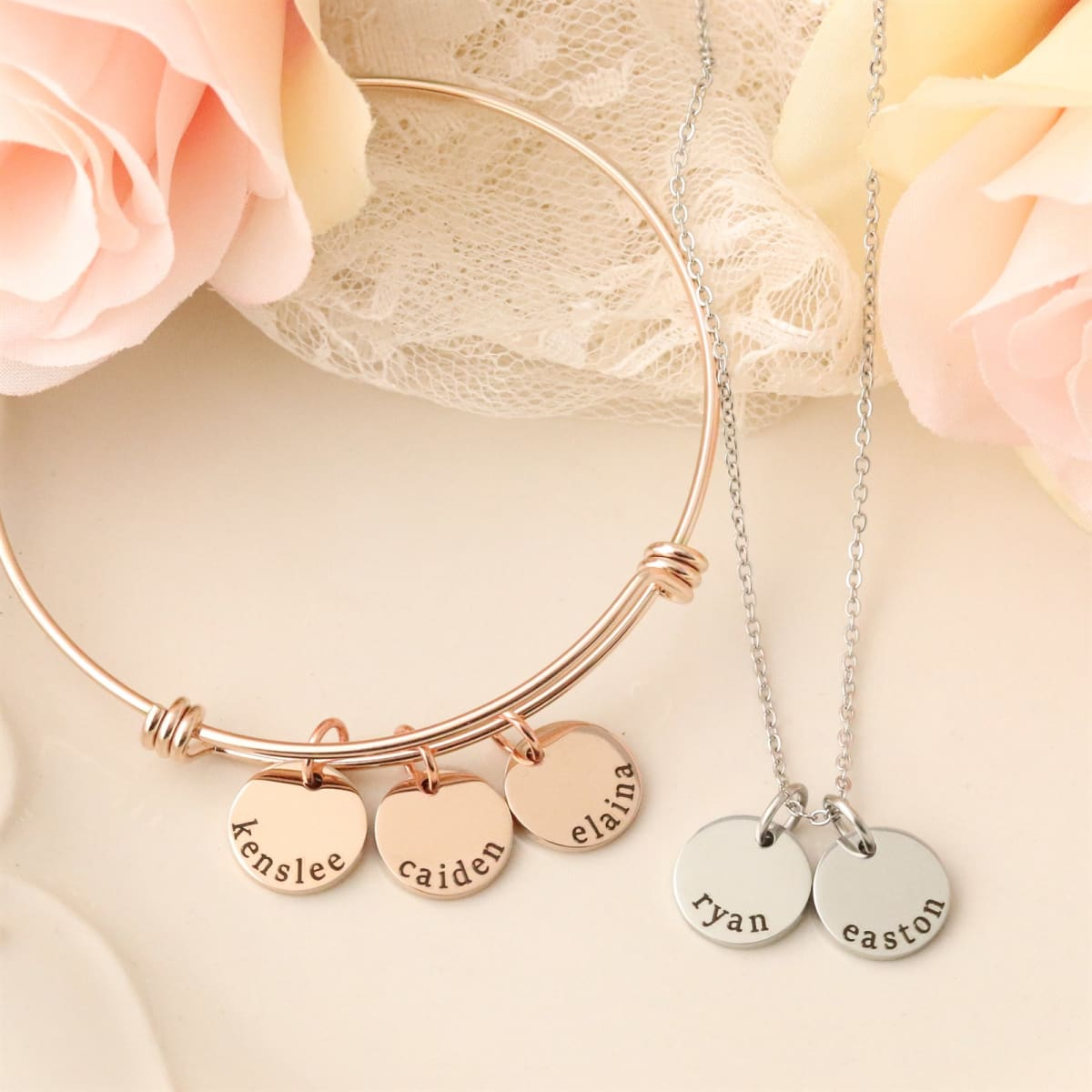 Personalized Name Dainty Disc Jewelry