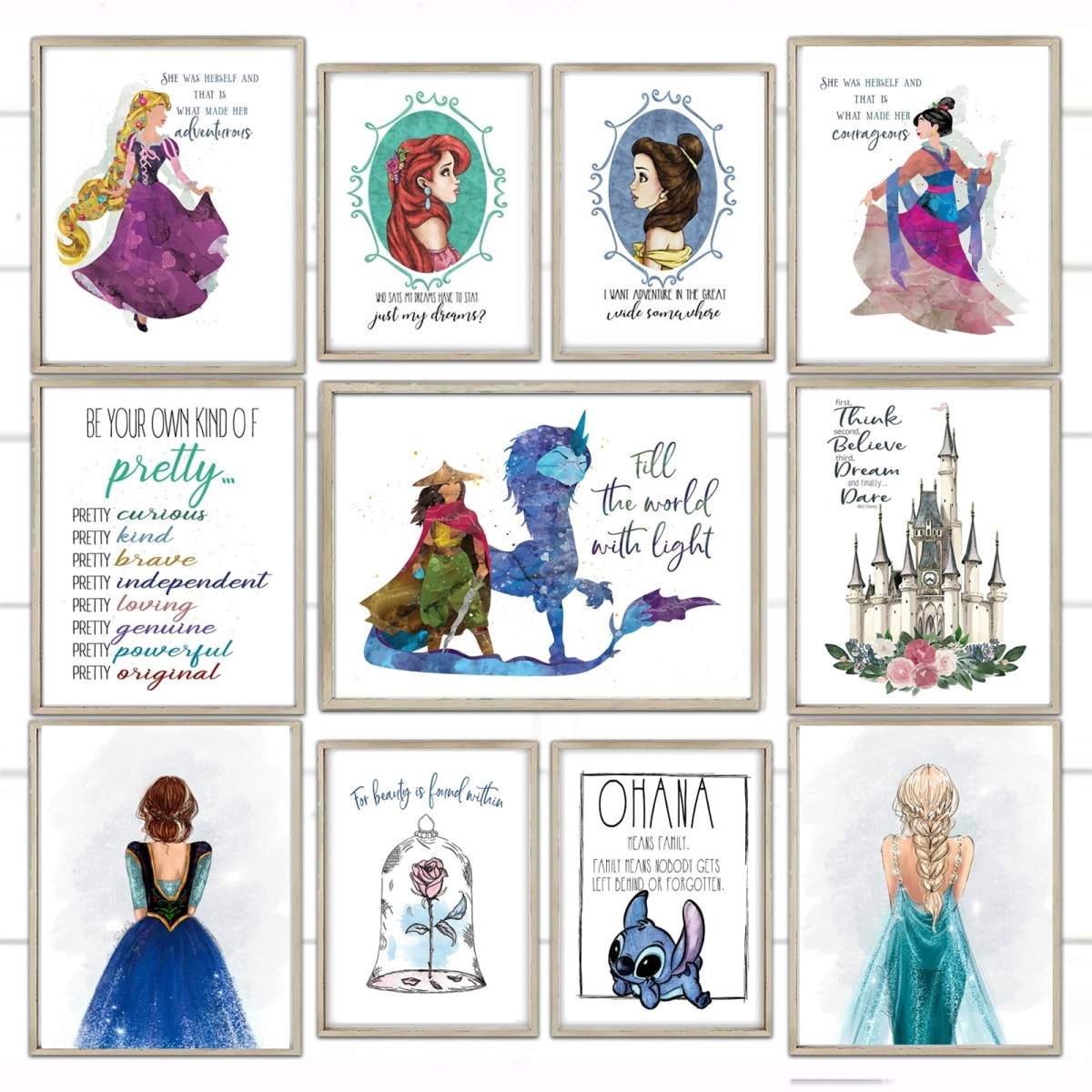 Lg. Enchanted Wishes Inspo Prints