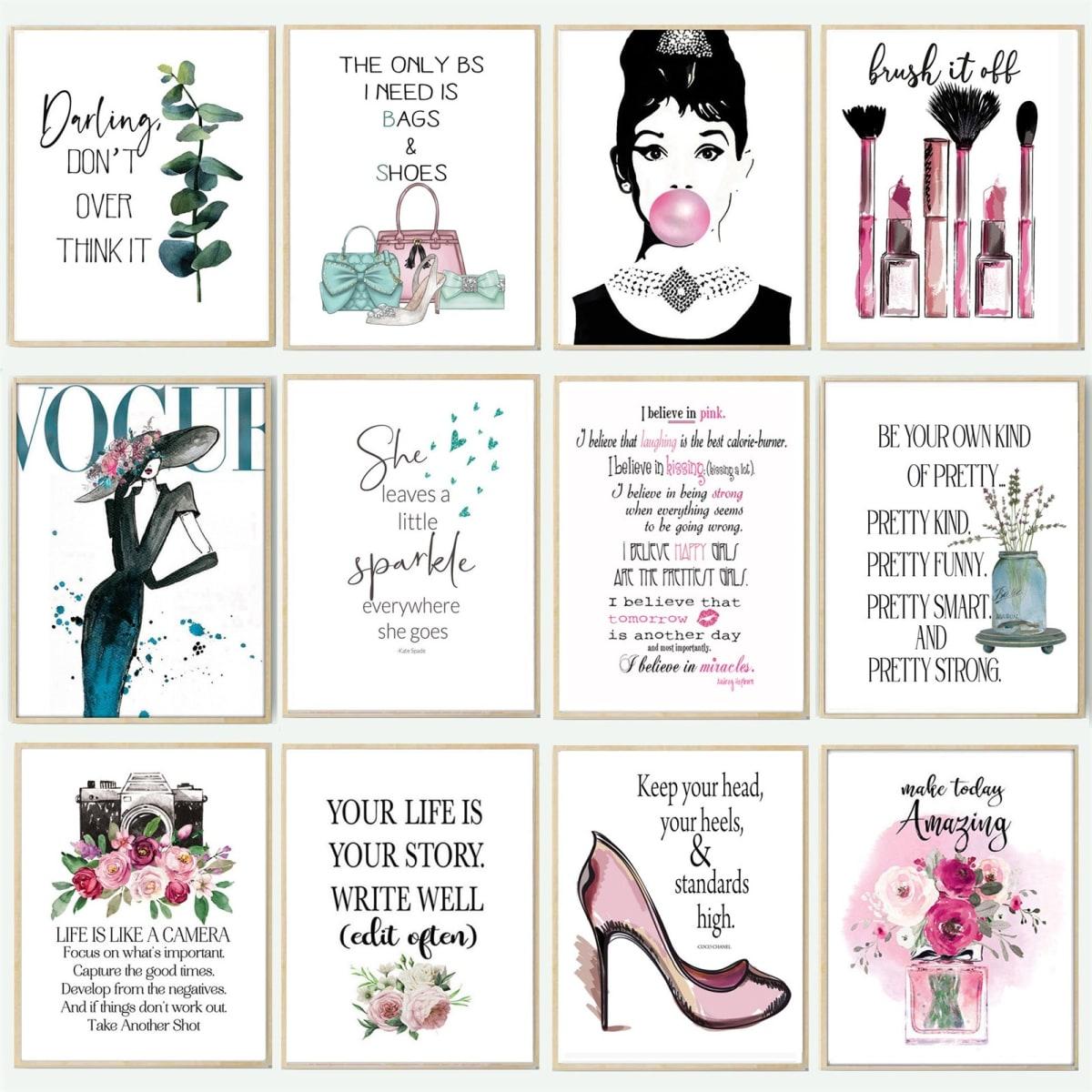 Lg. Glam & Fashion Prints