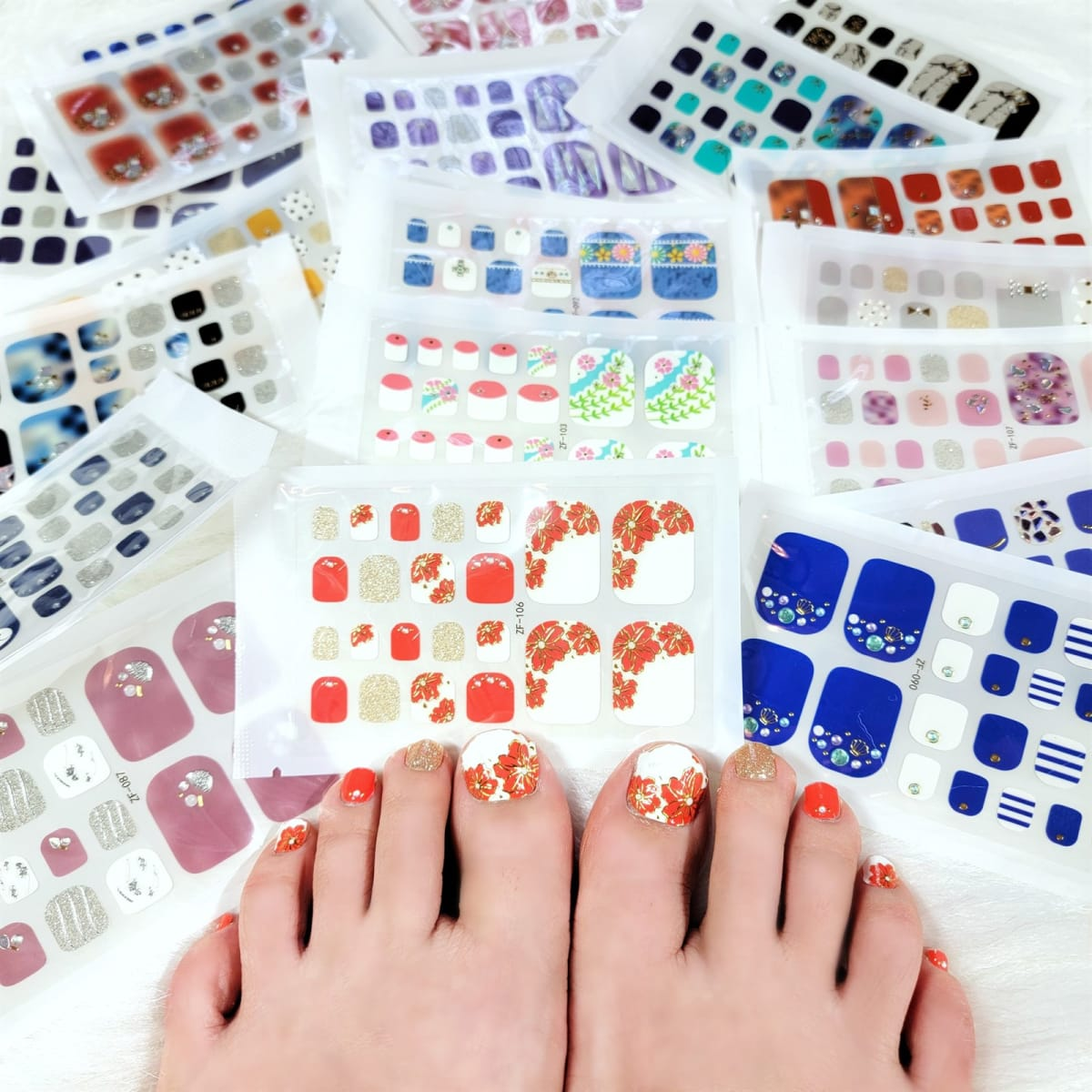 Spring & Summer Toe Nail Wraps for Moms/Kids