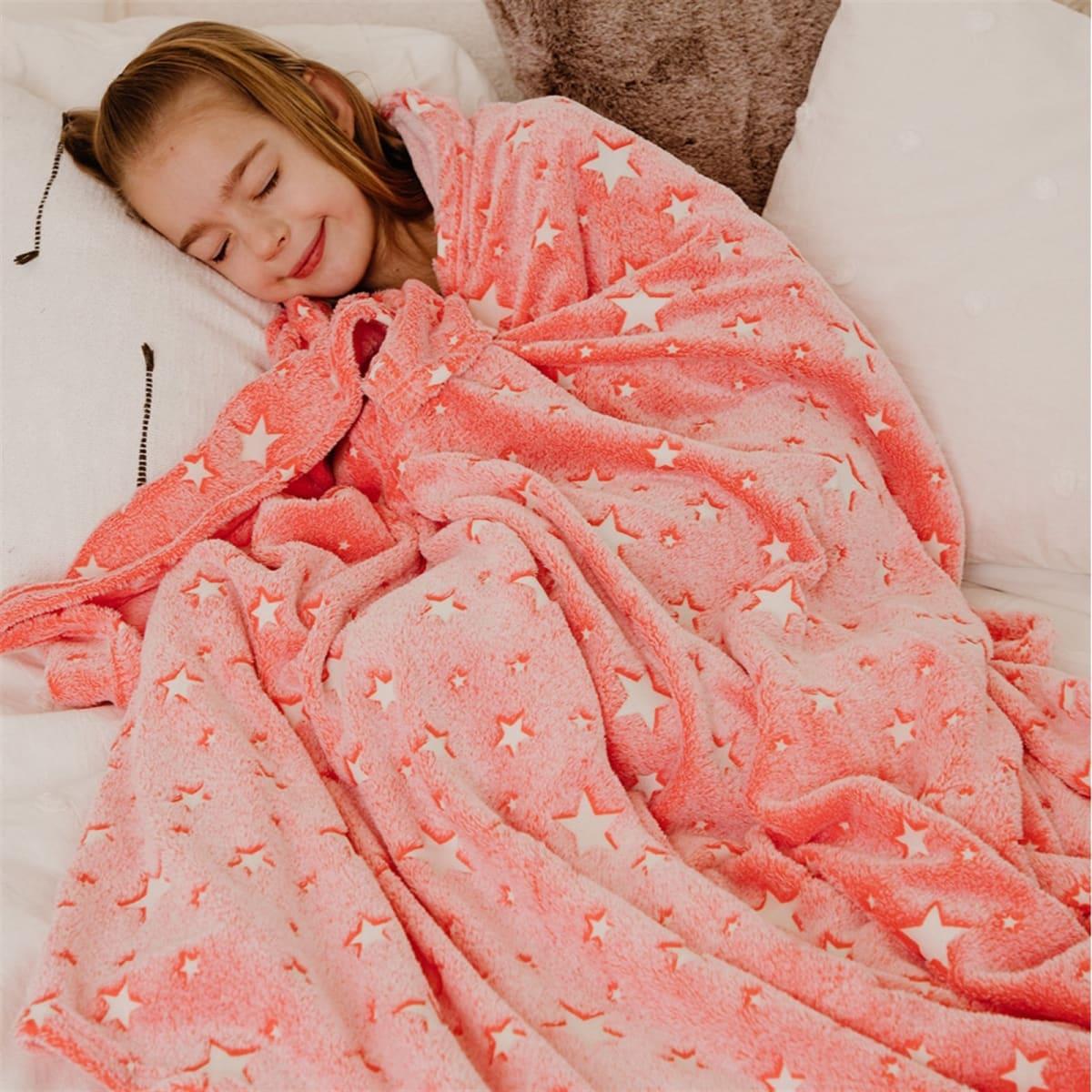 Super Soft Large Glow in Dark Blankets