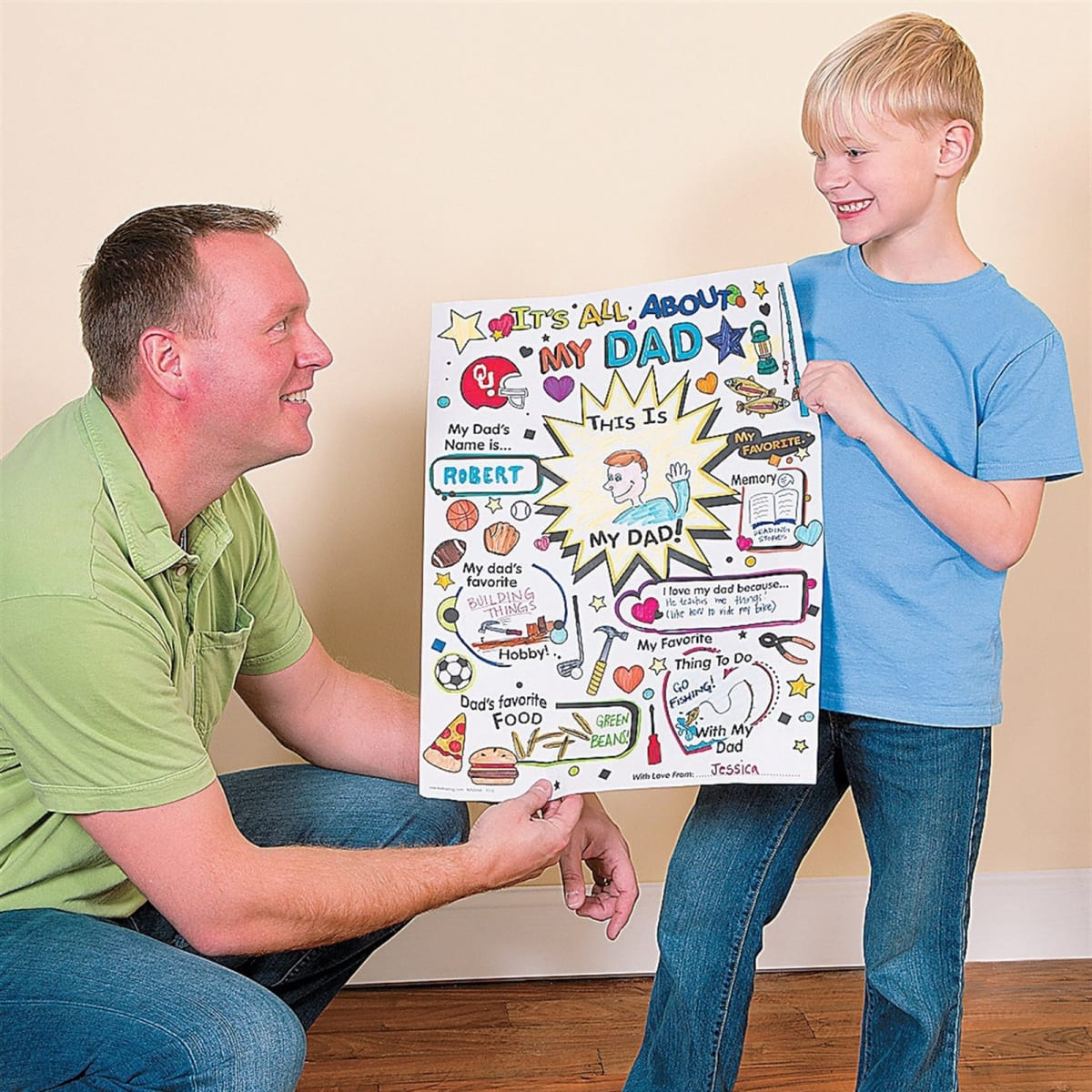 Large Fill In Father's Day Coloring Poster   BOGO