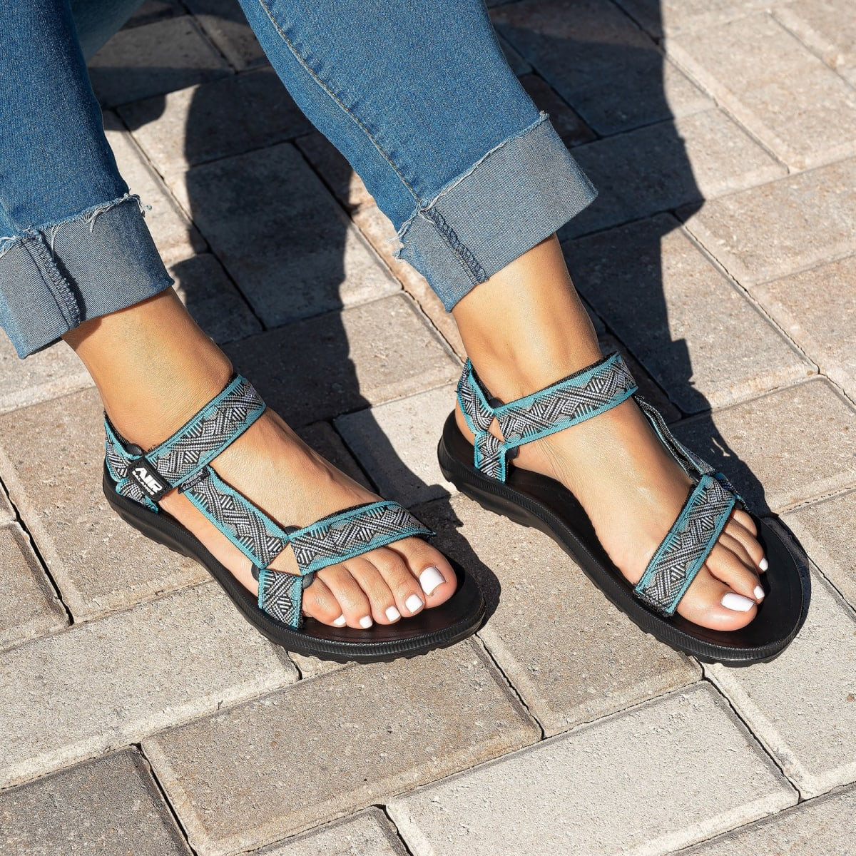Seaview Velcro Strap Sandals