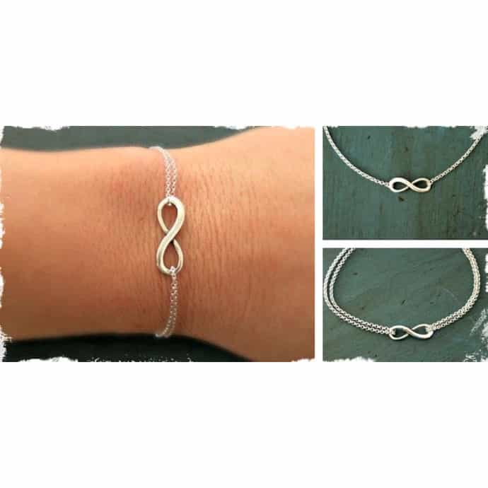 c1991dbe6a601 Tiffany & Co Inspired Sterling Silver Infinity Bracelet OR Necklace!
