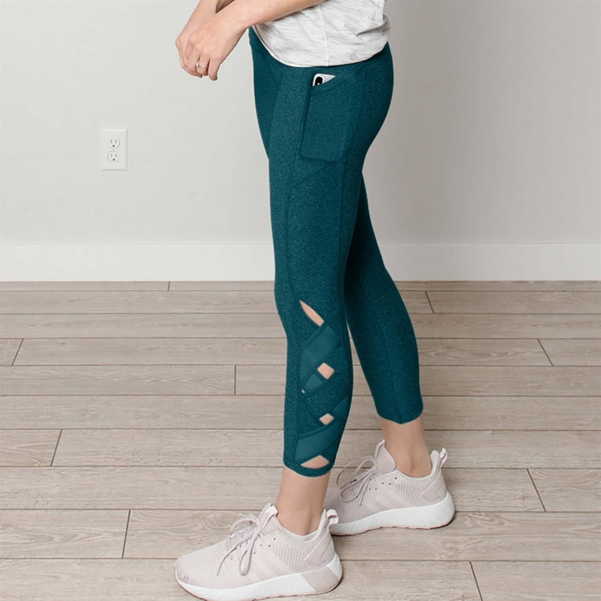 Tummy Control Athletic Pants w/Pockets