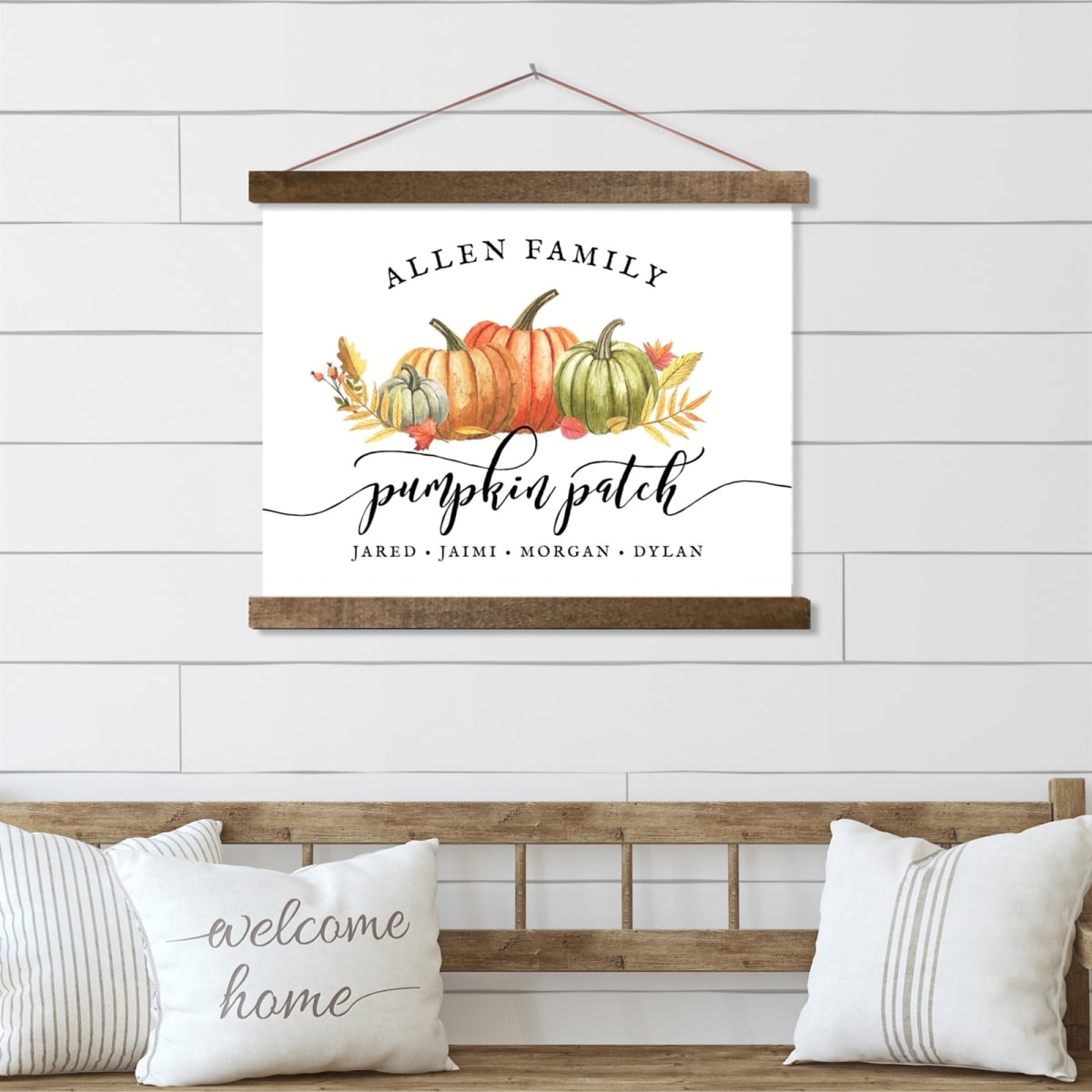Custom Pumpkin Patch Sign   Canvas With Wood Frame! .99 (REG .00) + Free Shipping at Jane!