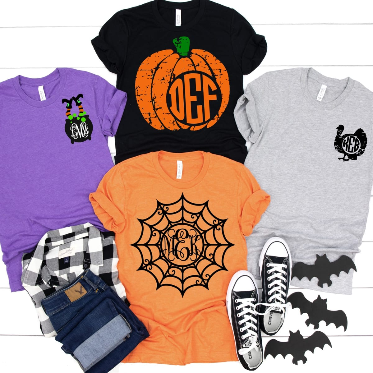 Monogram Halloween Tees   Youth and Adult! .99 (REG .00) + Free Shipping at Jane!