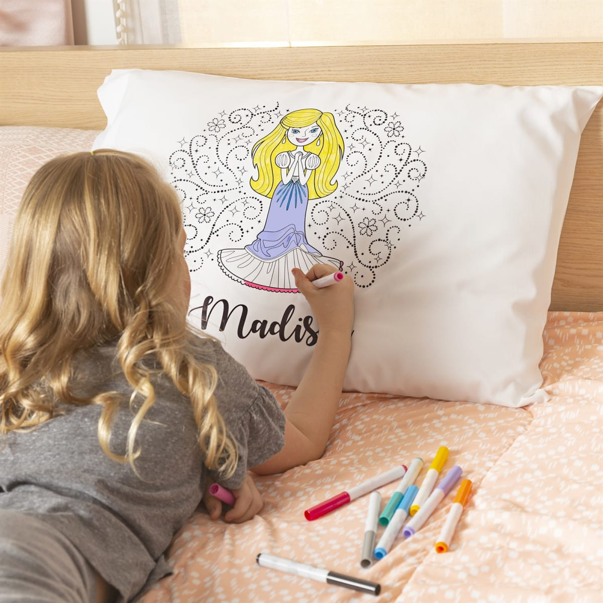 .99 + Free Shipping | Custom Princess Coloring Pillowcases from Jane!