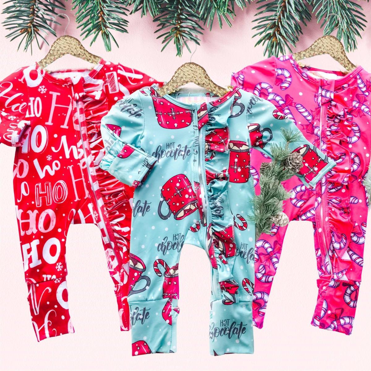 Holiday Ruffle Sleepers! .99 (REG .99) + Free Shipping at Jane!