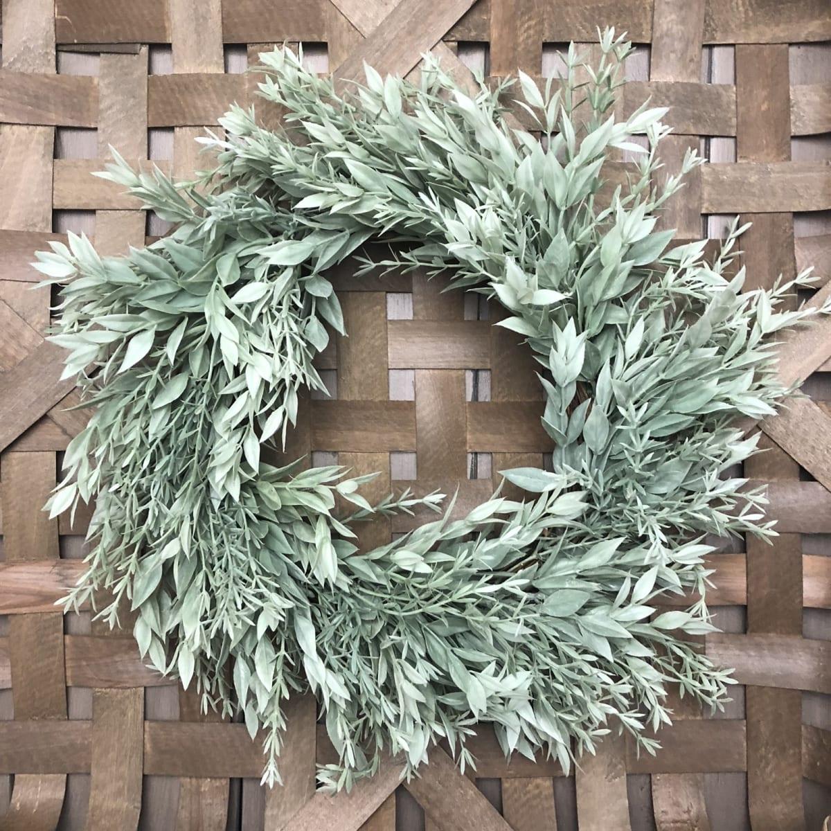 ".99 16"" Farmhouse Wreath | All Seasons + Free shipping at Jane!"
