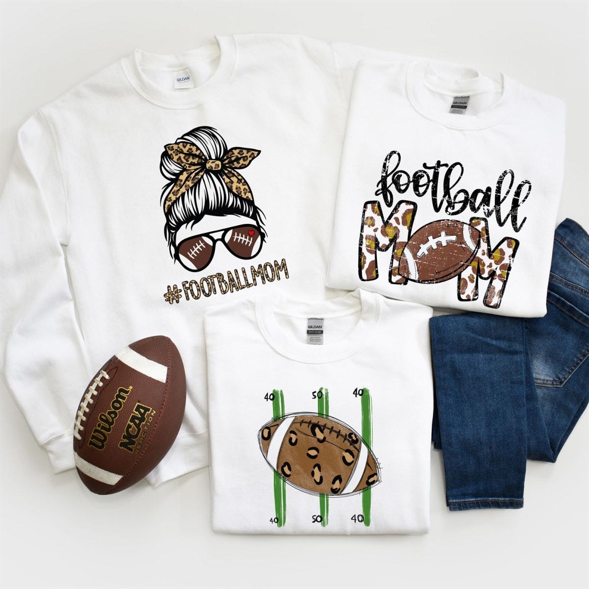 .99 Leopard Football Mom Sweatshirts + Free shipping at Jane!