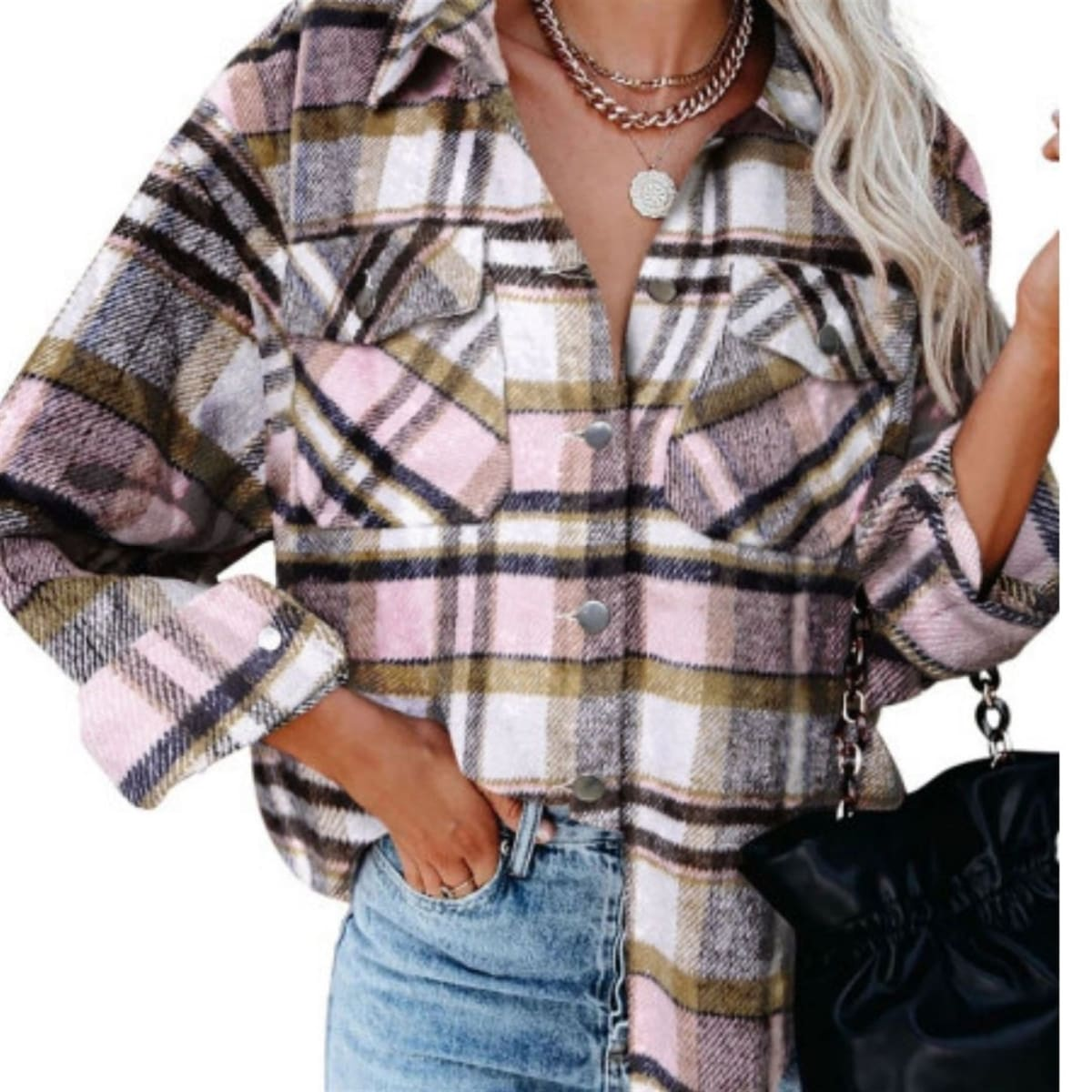 .99 Super Soft Plaid Shirt + Free shipping at Jane!